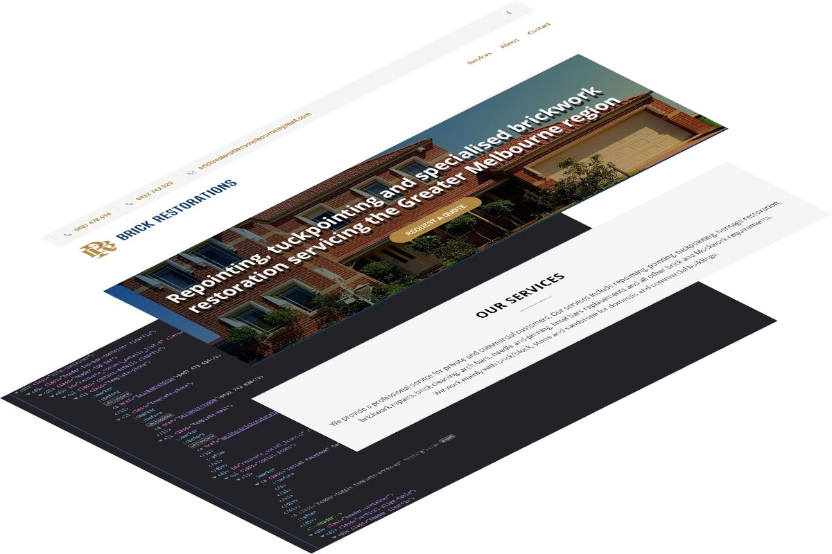 Tradie custom website