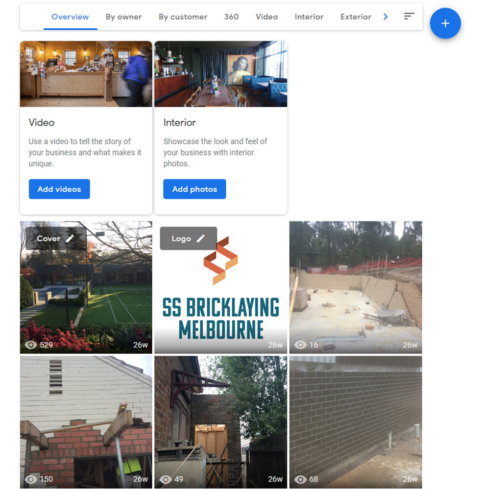 Google My Business for tradies photos